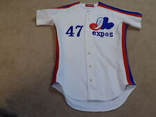 Buzz Capra Gene Roof Game Worn Signed Jersey 1983 Montreal Expos