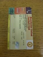 15/12/1997 Ticket: Manchester United v Aston Villa  . Thanks for viewing our ite