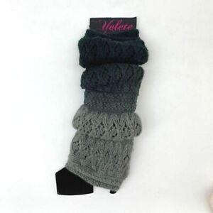 Yelete Leg Warmers Womens One Size Knit Crochet Cotton Winter Boot Leg Wraps New