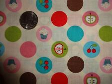 Kiss the Cook David Textiles Pink Polka Dot Cotton Quilt Fabric BTY by the yard