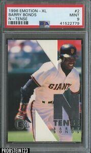 1996 Emotion-XL N-Tense #2/10 Barry Bonds San Francisco Giants PSA 9 MINT