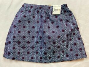 NWT Peek Girls Size 8 Years Large Purple Blue Floral Brocade Skirt Nordstrom