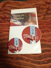 Nasa Titan Iv Centaur First Flight To Space Vhs , Pin And Decal Feb 7, 1994
