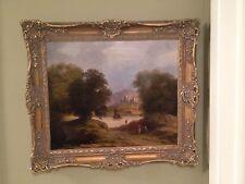 British Museum Quality 18th Century Oil Painting Romantic Landscape Castle Great