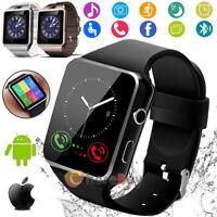 Waterproof Bluetooth Smart Watch & Phone w/Cam For iPhone Samsung LG HTC Google