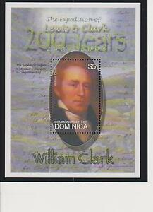 Dominica 200th Ann. of the Expedition of Lewis & Clark S/S's MNH Scott 2438-2439