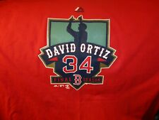 e72d0436b NWOT BOSTON RED SOX David Ortiz Final Season Red T Shirt Large Majestic Big  Papi