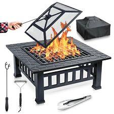 Garten Feuerschale Feuerstelle Outdoor - 2 in 1 BBQ Grillschale mit Funkenschutz