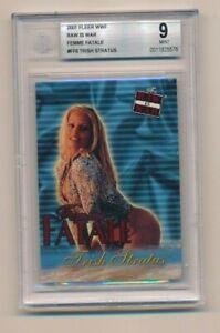 2001 Fleer WWF WWE Raw is War Femme Fatale Trish Stratus RC BGS 9