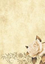 100 Blatt Motivpapier-5006 - A4 Format, Motiv: Blumen, Briefpapier TOP