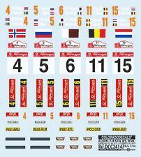 "DECALS 1/24 PLAQUES FORD FIESTA RS WRC ""QATAR"" PORTUGAL 2013 - COLORADO  24147"