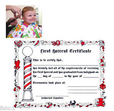 BARBER SHOP KID'S FIRST HAIRCUT OFFICIAL PAPER CERTIFICATE (1-PACK OF 12)