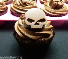 10 células Calaveras Molde del chocolate Candy Molde Cake Topper Bakeware del silicón Hielo Cera