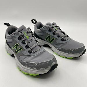 New Balance Men's 510 V5 Running Shoes Gray/Black/Green #MT510CG5 Size 7.5 D