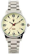 Swiss Emporio Men's Quartz Swiss Made Watch with Beige Dial Analogue Display ...