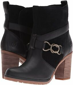 Women's Timberland Dennett Buckle Ankle Boot, TB0A168O 015 Multiple Sizes Black