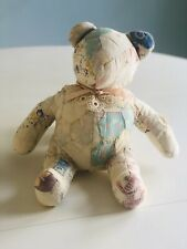 Quilt Teddy Bear Vintage Missouri Star Pattern Pastels 15� X 12� Lace Collar