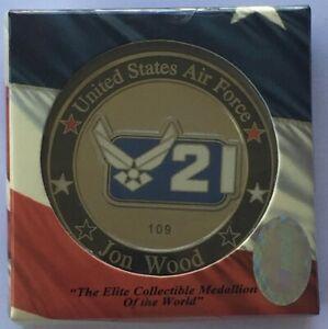 2007 Jon Wood #21 - US Air Force - Wood Bros Racing- NASCAR Challenge Sport Coin