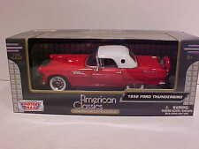 1956 Ford Thunderbird Hardtop Coupe Die-cast Car 1:24 Motormax 7.5 inches Red