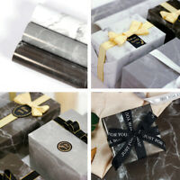 10 Pcs Gift Wrapping Paper Roll Marble Design Decoration Wrap Birthday 70*50cm