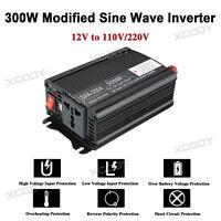 300W Power Inverter Inversor de Corriente Convertidor DC 12V AC220V Cargador USB