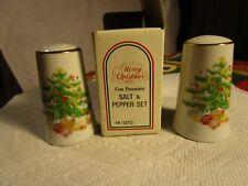 CHRISTMAS TREE&PRESENTS SALT&PEPPER SHAKERS~MADE IN JAPAN