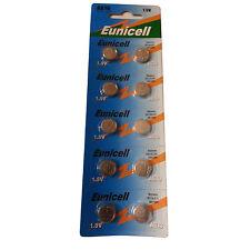 10 Eunicell AG10 LR54 189 LR1130 389 ALKALINE BUTTON COIN CELLS BATTERIES