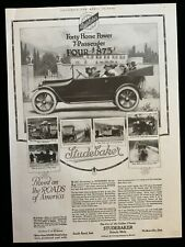 New ListingE Studebaker 1916 Ad 14 1/2 x 10 1/2 Great Fisk Tires on back