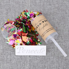10Pcs Push Up Pop Confetti Poppers Wedding Birthday Party Graduation Supplies