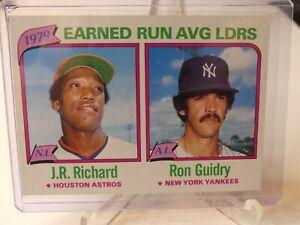 1980 Earned Run Avg Ldrs 1979 - Topps #207, J.R. Richard, Ron Guidry  ⚾⚾⚾