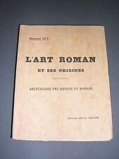 Architecture Art Roman Raymond Rey l'art roman et ses origines 1945 gravures
