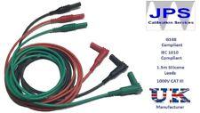 Red Black Green Test Leads Set Megger Multifunction Tester Unfused JPSS085