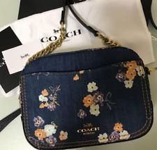 COACH Japan Limited Design Camera Bag denim print 68226  H16x W21xD7.5cm unused