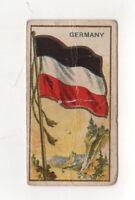 1910 GERMANY FLAG E15 Tobacco Card AMERICAN CARAMEL Caramels GERMAN Flags