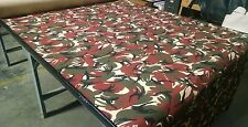 "SIERRA URBAN CAMO NY/CO TWILL FABRIC 60""W MILITARY CAMOUFLAGE BRICK RED / GREEN"