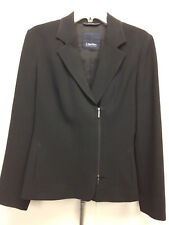 S MaxMara black side zip jacket size 6