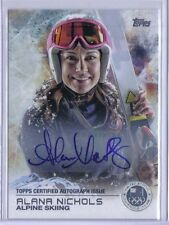 Alana Nichols 2014 Topps Winter Olympics Silver Autograph Auto Alpine Skiing /30
