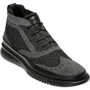 ZeroGrand Cole Haan Mens 2.ZeroGrand StitchLite  Black Chukka Boots BHFO 5256