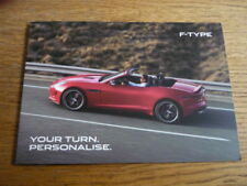 JAGUAR F TYPE, CARBON AND CHROME PACK BROCHURE