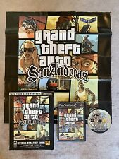 Play Station 2 ps2 Grand Theft Auto San Andreas & Brady Games Strategie Guide Map