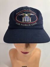 Vintage Mens Ronald Reagan Library Air Force One Strapback Hat Embroidered NOS