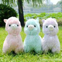 35/45cm Colorful Alpaca Plush Sheep Toy Japanese Soft Alpacasso Doll For Kids
