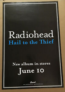 RADIOHEAD Rare 2003 LARGE PROMO POSTER w/ DATE for Hail CD 24x36 NEVER DISPLAYED