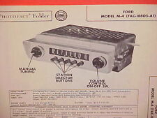 1952 FORD COURIER CUSTOMLINE CRESTLINE CONVERTIBLE AM RADIO SERVICE MANUAL 52 3