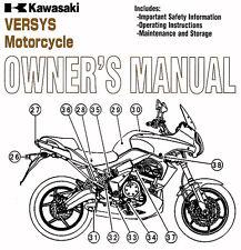 New listing 2013 Kawasaki Versys 650 Motorcycle Owners Manual -Kle 650-Kle650Cd-Kawasaki