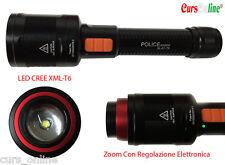 Torcia Professionale Zoom Elettrico LED CREE XM-L T6 Tattica Luce Bianca BL-K1