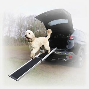 Hewitt & Blue telescopic extending dog ramp for large heavy dogs. Cars 4x4 MPV