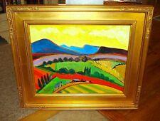 "Perry Coyle, Santa Fe New Mexico Landscape Yellow Sky 23 1/8""  x 27 1/4"" Frame"