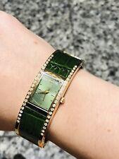 Kenneth Jay Lane KJL Green Crystal Watch