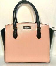 Kate Spade Med Leather Satchel Crossbody Bag Jeanne Blush Black Wkru6043